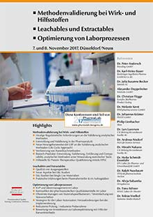 PharmaLab 2017 - Konferenz Leachables und Extractables