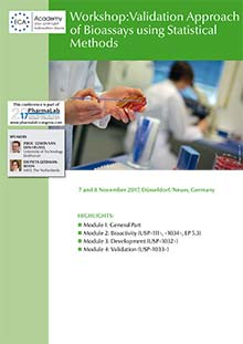 PharmaLab 2017 - Konferenz Validation Approach of Bioassays using statistical Methods